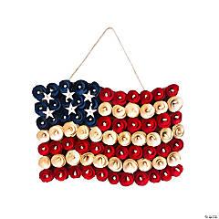 Patriotic Flag-Shaped Wreath