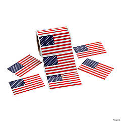 Patriotic Flag Stickers