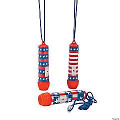 Patriotic Flashlights on a Rope