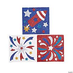 Patriotic Glitter Art Pictures