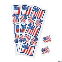 Patriotic Glitter Flag Stickers - Less Than Perfect