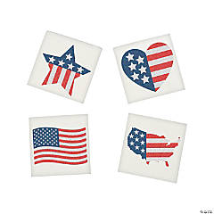 Patriotic Glitter Flag Tattoo Assortment