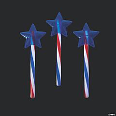 Patriotic Glow Swizzle Star Wand