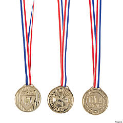 Patriotic Goldtone Medals