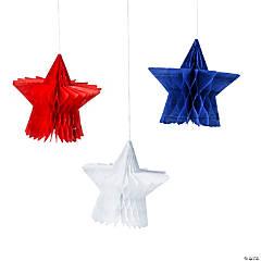 Patriotic Hanging Honeycomb Stars