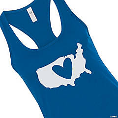 Patriotic Heart Women's Racerback Tank - Medium
