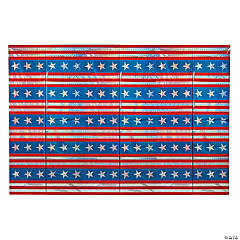 Patriotic Holographic Backdrop Banner
