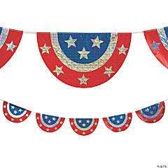 Patriotic Holographic Bunting