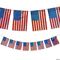 Patriotic Holographic Flag Garland