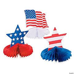 Patriotic Honeycomb Centerpieces