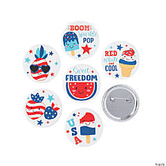 Patriotic Kids Buttons