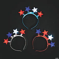 Patriotic Light-Up Head Boppers