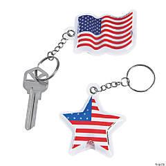 Patriotic Light-Up Keychains