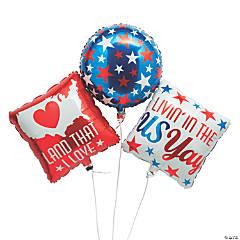 Patriotic Mylar Balloon Set