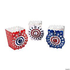 Patriotic Paper Fan Luminary Bags