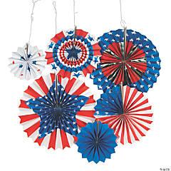 Patriotic Paper Hanging Fans