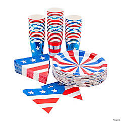 Patriotic Party Tableware Kit for 50 Guests