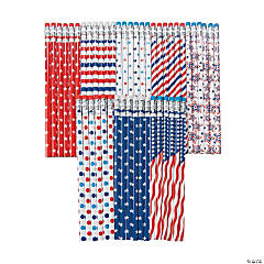 Patriotic Patterns Pencil Assortment - 72 Pc.