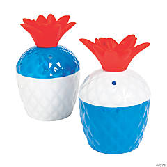 Patriotic Pineapple Cups with Lids