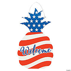 Patriotic Pineapple Door Sign