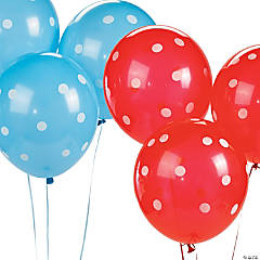 Patriotic Polka Dot Latex Balloons
