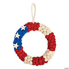 Patriotic Pom-Pom Wreath