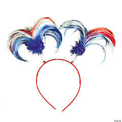 Patriotic Ponytail Head Boppers Clip Strip