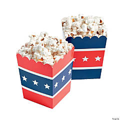 Patriotic Popcorn Boxes Clip Strip