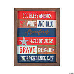 Patriotic Religious Phrases Wall Sign