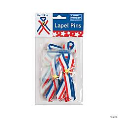 Patriotic Ribbon with Star Pins Clip Strip