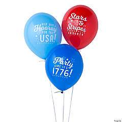 Patriotic Sayings Latex Balloons