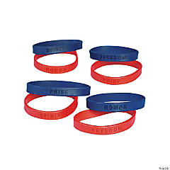 Patriotic Sayings Rubber Bracelets