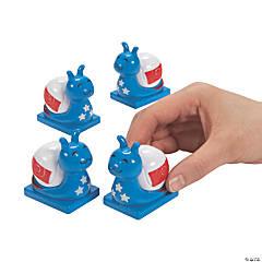 Patriotic Snail Pull-Back Toys