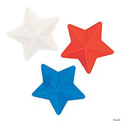 Patriotic Star Erasers