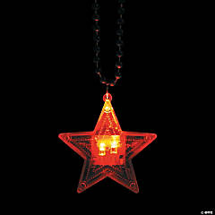 Patriotic Star Light-Up Necklaces Clip Strip