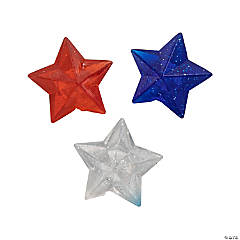 Patriotic Star-Shaped Bouncy Balls