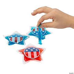 Patriotic Star-Shaped Slime Packets