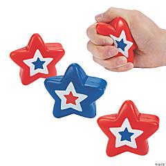 Patriotic Star Stress Toys