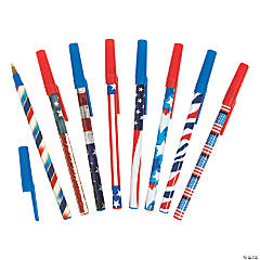 Patriotic Stick Pen Assortment