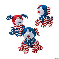 Patriotic Stuffed Dogs