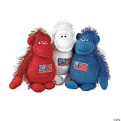Patriotic Stuffed Gorillas