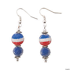 Patriotic Sugar Bead Earrings Craft Kit