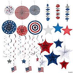 Patriotic Super Hanging Decorations Kit