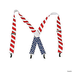 Patriotic Suspenders Clip Strip