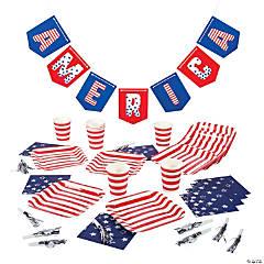 Patriotic Tableware Kit for 8 Guests