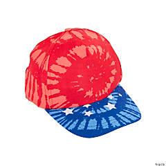 Patriotic Tie-Dye Baseball Caps