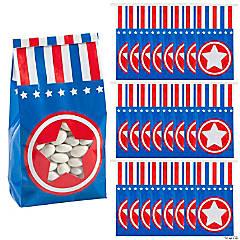 Patriotic Tin Tie Treat Bags with Star Window