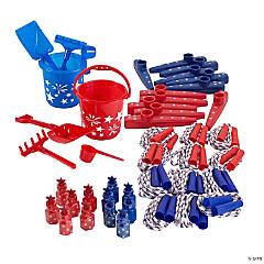 Patriotic Toy Buckets Kit for 12