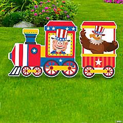 Patriotic Train Yard Sign