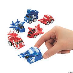 Patriotic Truck & Plane Pull-Back Toys
